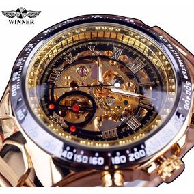 Relógio Masculino Luxo Automático Esqueletizado Frete Grátis