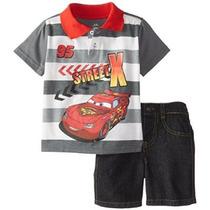 Disney De Los Bebés De 2 Piezas Rayo Mcqueen Jersey Polo Set