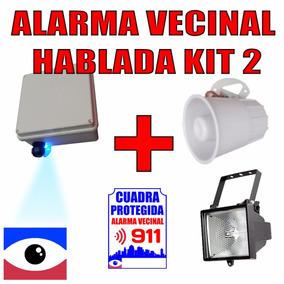 Kit 2 Alarma Vecinal Hablada Comunitaria