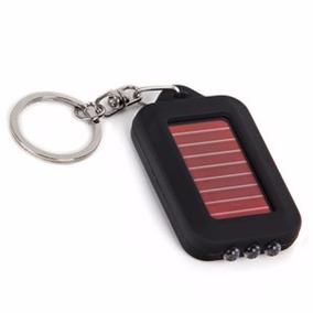 Chaveiro C/ Lanterna Solar (2 Peças) Recarregável P/ O Carro