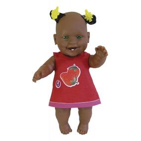 Boneca Bicudinha Negra Zap Fofinha Com Um Lindo Lacinho