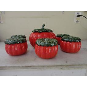 #20951 - Porcelana - Camarão Na Moranga 7 Peças Vermelhas!!!