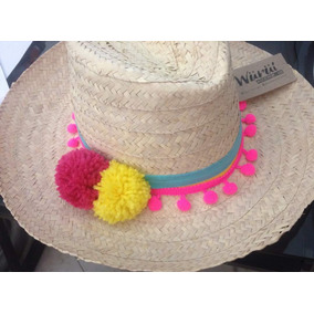 Sombreros Playeros Con Pompones 537427a70fc