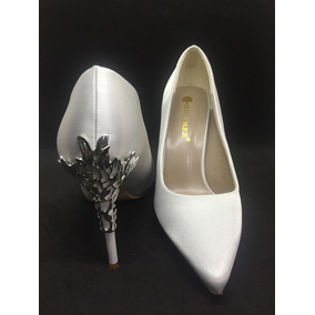 Hermosos Zapatos Blancos Para Novia