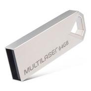 Pendrive Multilaser Diamond 64gb Usb 2.0 Metálico - Pd852
