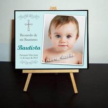 Divino Souvenir Mini Atril Con Foto - Bautismo - 1er Añito