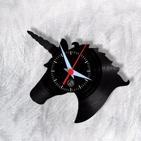 Unicórnio Relógio Parede Vinil Disco Arte No Lp Lgbt