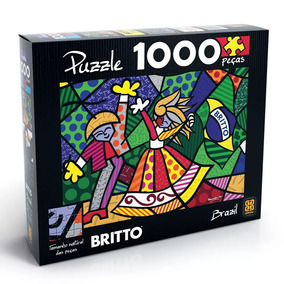 Quebra Cabeça Romero Brito (1000 Peças) + Porta Puzzle