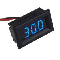 Voltímetro Digital Mini Medidor Bateria Som Auto Azul