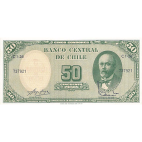 Billete Chileno Firma Escasa