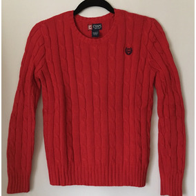 Chaps De Ralph Lauren Sweater Chaleco Rojo Niño M (10-12)
