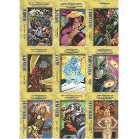 Eua 1996 - 90 Cards Da Marvel Coleção Over Power Diferentes