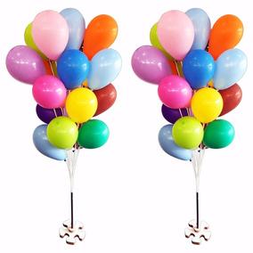 Suporte Varetas P/ 20 Bexigas Balão Imitam Gás Helio 2 Bases