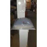Claraboya Base Aluminio 0.60x0.60 De Abrir Cupula Blanca