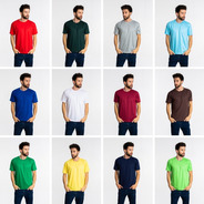 7 Camisetas Mescla Pv Malha Fria 67% Poliéster 33% Viscose