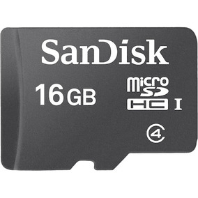 Memoria Micro Sd Sandisk 16gb C4 Con Adaptador