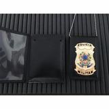 Carteira C/ Distintivo E Corr. Policia Militar Frete Gratis