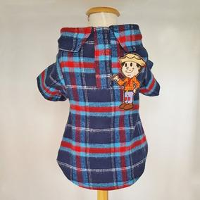 Roupa De Festa Junina Para Cachorro Camisa Xadrez