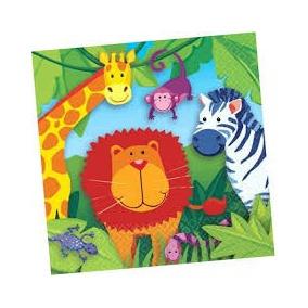 Jungle Animal Servilletas Grandes 16 Hojas Dobles