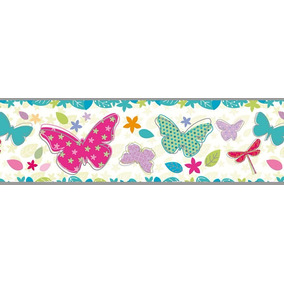 Mariposas Flores Autoadhesiva Guarda Papel Muresco 12861