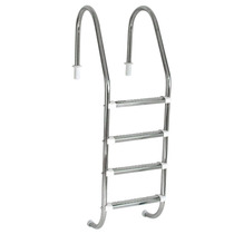 Escada Para Piscina - Aço Inox 304 - 4 Degraus Em Aço Inox