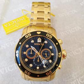 0b298f5534d Relógio Preto E Dourado - Relógio Invicta Masculino no Mercado Livre ...
