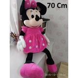 Boneco Pelucia Minnie Rosa Disney 70cm Gigante Antialergico