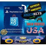 Tarjeta Playstation Network Psn Card 10 Usd (usa) Ps3 Ps4