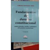 Carlos Nino / Fundamentos De Derecho Constitucional