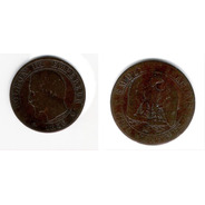 Moneda 5 Centimes - Francia - 1856 B