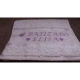Toalha Personalizada Para Batizado (bordada Ponto Cruz)