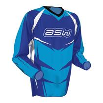 Camisa Asw Image Race Azul Size Medio Trilha Cross Bike F Ox