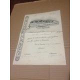Titulo Socio De Numero 900 Jockey Club Brasileiro 1942 Raro