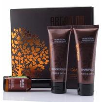 Set Morocco Argan Oil Shampoo, Acondicionador Y Aceite