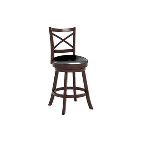 corliving bar silla de cuero sinttico negro espresso
