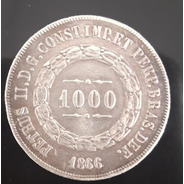 Moeda 1000 Reis Ano 1866
