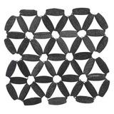 Set X 4 Portavasos Flor Negra - Now Designs