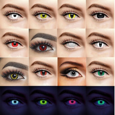 Pupilentes De Fantasía Disfraz De Halloween Día De Muertos