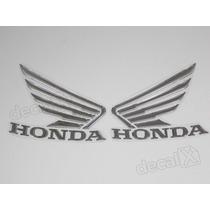 Emblema Adesivo Resinado Asa Cromado Honda Hornet 2013