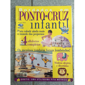 Revista Bordados Em Ponto Cruz Infantil Alfabeto Motivo N°34