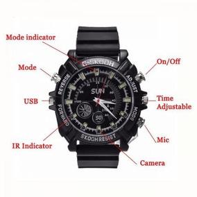 bf4a12161ee Relógio Espião Full Hd 8gb Visão Noturna Câmera Espiã