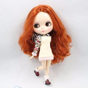 Blythe Doll Articulada Cabelos Ruivos Cacheados