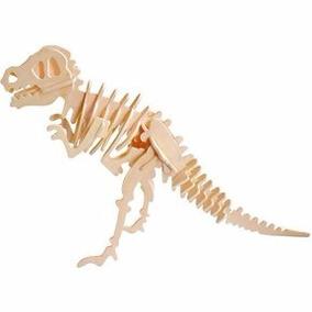 Rompecabezas De Madera 3 D Dinosaurio Rex Juegos Puzzle