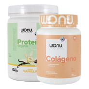 Wonu Kit Force Proteína Vainilla 500g + Colágeno Mandarina