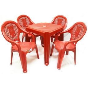 Jogo Mesa Com 4 Cadeiras Infantil Para Criança - Promoção