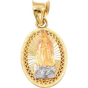 Medalla 3 Oros 10k Virgen Guadalupe Con Cadena Infantil