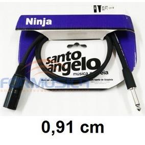 Cabo Para Microfone Santo Ângelo Série Ninja Nm 03ft 0,91 M