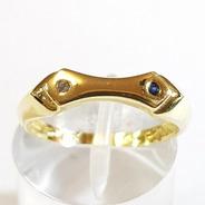 Anillo Oro 18k Amarillo Cubics 2,7grs N°13 Brumat