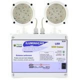 Bloco De Iluminação Led Emergência 2000 Lumens Profissional