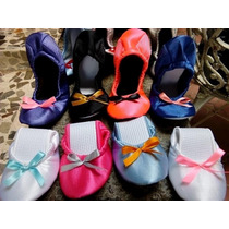 Pantuflas Flats Para Boda, Flats Enrollables, Muchos Colores